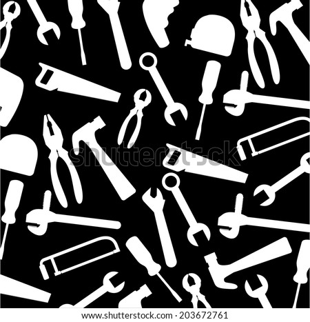 Tools design over black background, vector illustration
