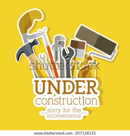 Tools design over yellow background, vector illustration - stock vector