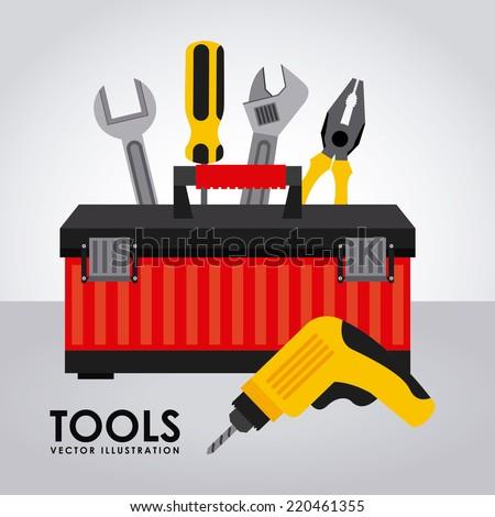 tools graphic design , vector illustration - stock vector