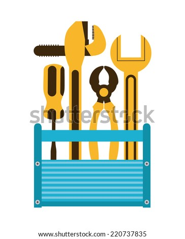 tools graphic design , vector illustration - stock vector