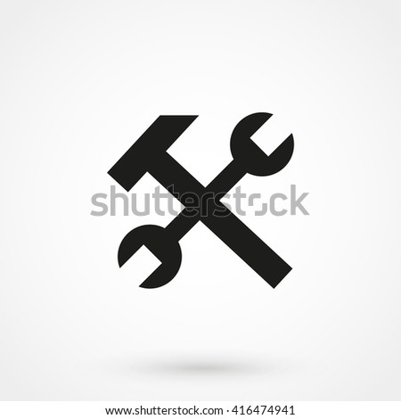 Tools icon isolated on background. Modern flat pictogram, business, marketing, internet concept. Trendy Simple vector symbol for web site design or button to mobile app. Logo illustration - stock vector