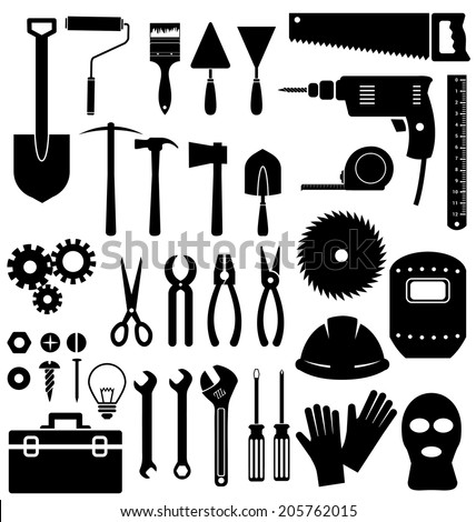 Tools icon on white background - stock vector