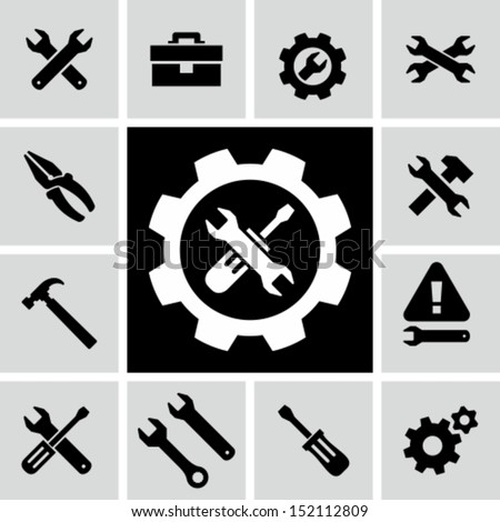 Tools icons - stock vector