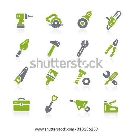 Tools Icons // Natura Series - stock vector