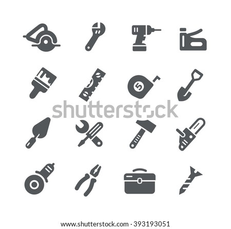 Tools Icons // Utility Series - stock vector
