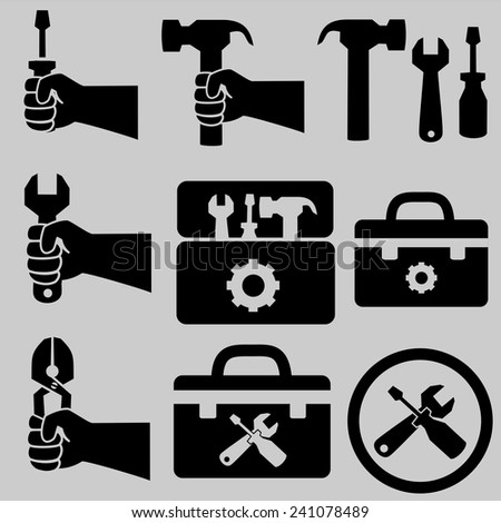 Tools icons.vector - stock vector