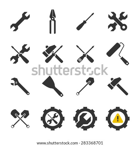 Tools icons,Vector EPS10. - stock vector