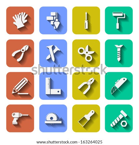 Tools Icons With Shadows Vol 2 - stock vector