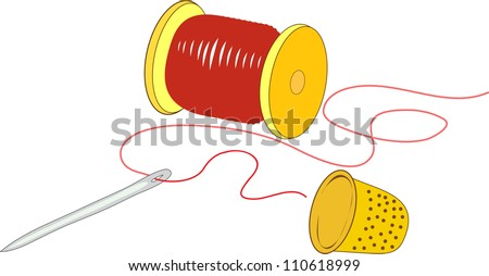 tools of the dressmaker - stock vector
