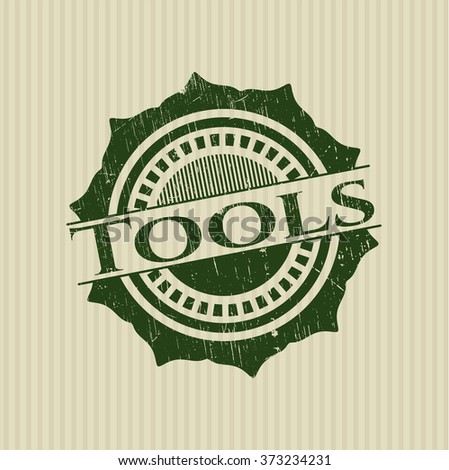 Tools rubber stamp - stock vector