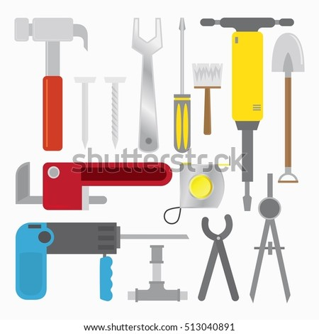 Tools set icons vector. signs and symbols