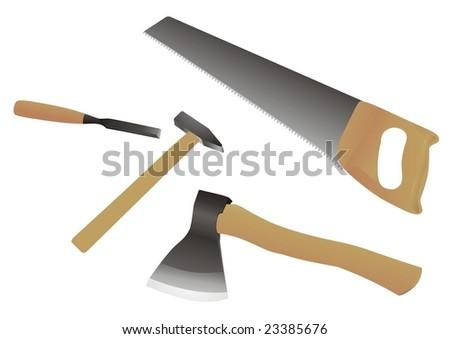 tools. vector illustration. - stock vector