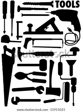 tools vector set - stock vector