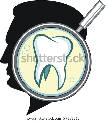 tooth - stock vector