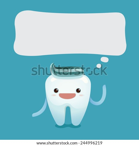 Tooth boy say something - stock vector