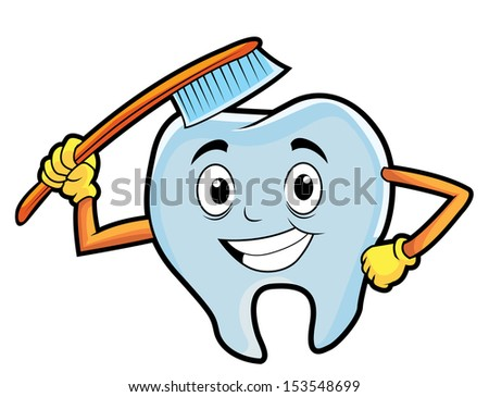 tooth brush  - stock vector