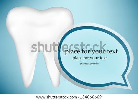 tooth design element. vector mesh illustration - stock vector