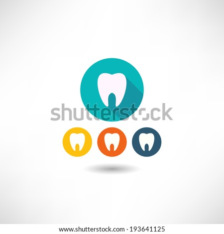 Tooth icon - stock vector