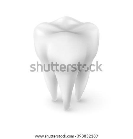 Tooth Icon, Dentist Symbol in Isometric Style - stock vector