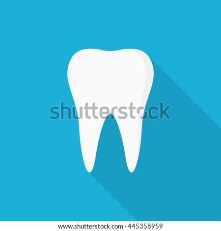 Tooth icon - Vector - stock vector