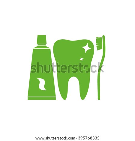 tooth icon vector illustration eps10. - stock vector