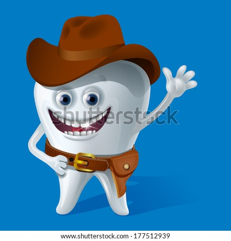 Tooth sheriff - stock vector