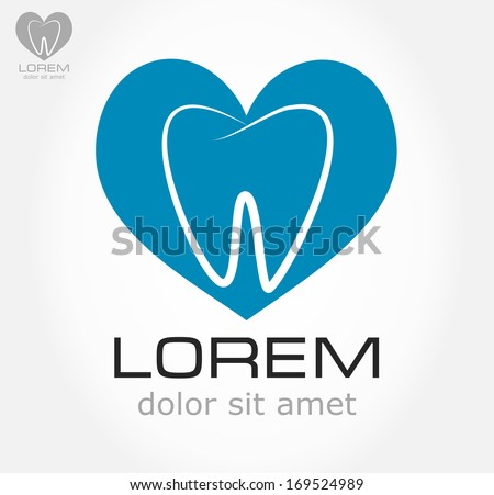 tooth symbol. vector illustration. - stock vector