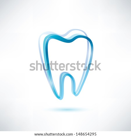 tooth vector symbol - stock vector