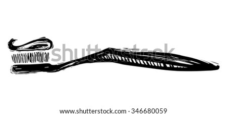 Toothbrush and toothpaste - stock vector