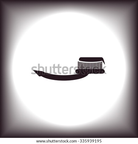 Toothbrush and Toothpaste. icon. vector design