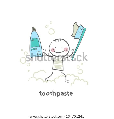 toothpaste - stock vector