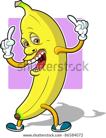 Top Banana - stock vector