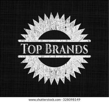 Top Brands chalk emblem - stock vector