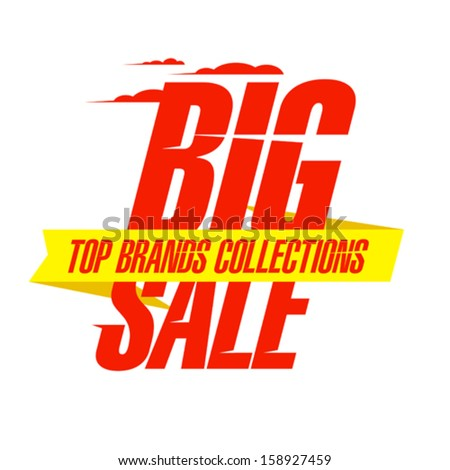 Top collections brands sale design - stock vector