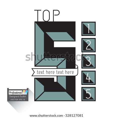 Top 5 List Stock Images Royalty Free Images Amp Vectors