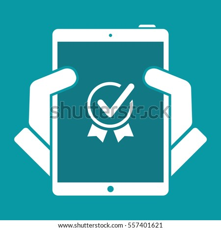 Top quality certification - Vector web icon