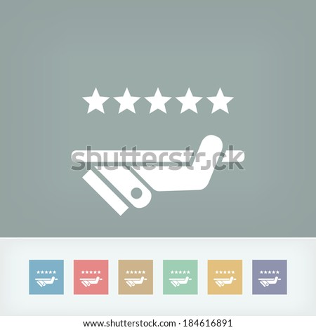 Top quality service icon - stock vector