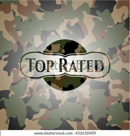 Top Rated camo emblem - stock vector
