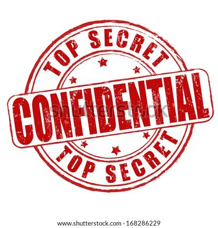 Top secret, confidential grunge rubber stamp on white, vector illustration - stock vector