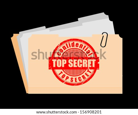 Top Secret Folder - stock vector