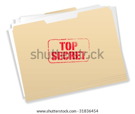 Top Secret Folder - Vector Illustration - stock vector