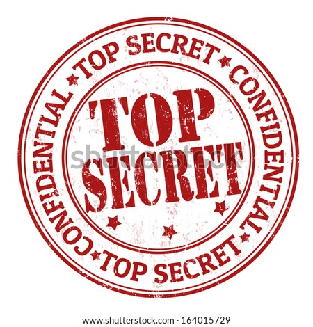 Top secret grunge rubber stamp on white, vector illustration - stock vector