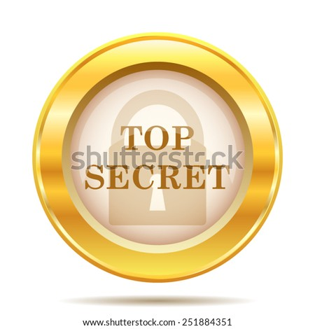 Top secret icon. Internet button on white background. EPS10 vector.  - stock vector