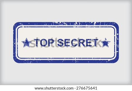 Top secret rubber stamp.Grunge top secret stamp.Vector illustration. - stock vector