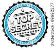 Top Secret rubberstamp - stock vector