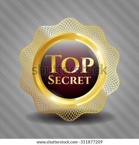 Top Secret shiny emblem - stock vector