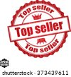Top seller grunge rubber stamp, vector illustration - stock vector