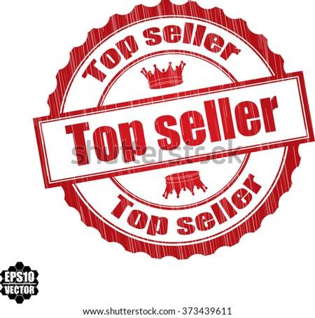 Top seller grunge rubber stamp, vector illustration - stock vector