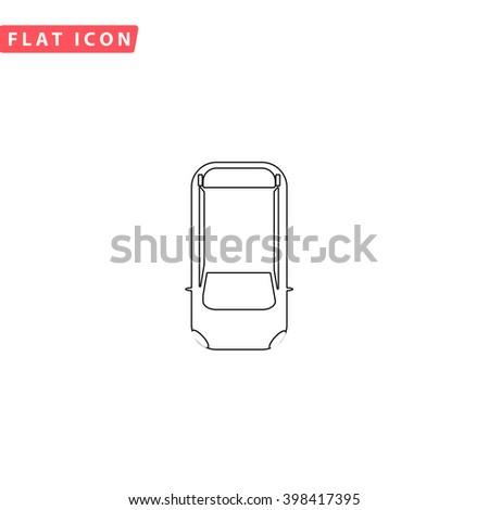 Top view car Icon Vector.  - stock vector