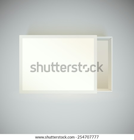 Top View Matchbox Blank Label Template Stock Vector 254707777 ...